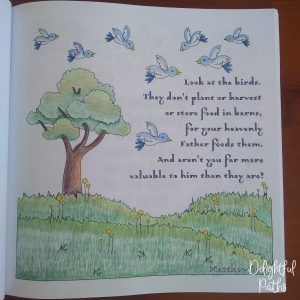Sermon on the Mount Bible Coloring Book DelightfulPaths Mat 6-26