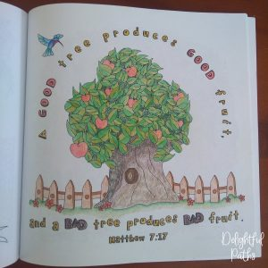 Sermon on the Mount Bible Coloring Book DelightfulPaths Mat 7-17