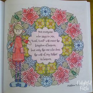 Sermon on the Mount Bible Coloring Book DelightfulPaths Mat 7-21