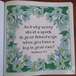 Sermon on the Mount Bible Coloring Book DelightfulPaths Mat 7_3
