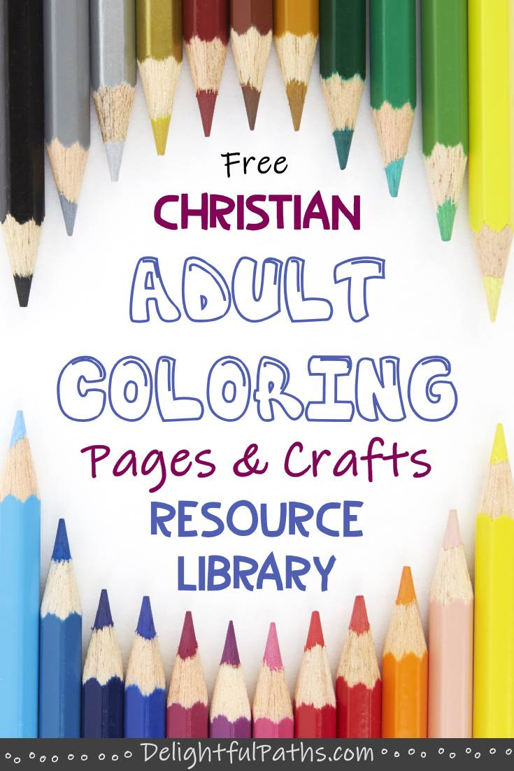 Gain access to a bunch of free Bible Adult Coloring Pages DelightfulPaths #coloringpages #printables #freeprintable #bookmarks #cards #craft