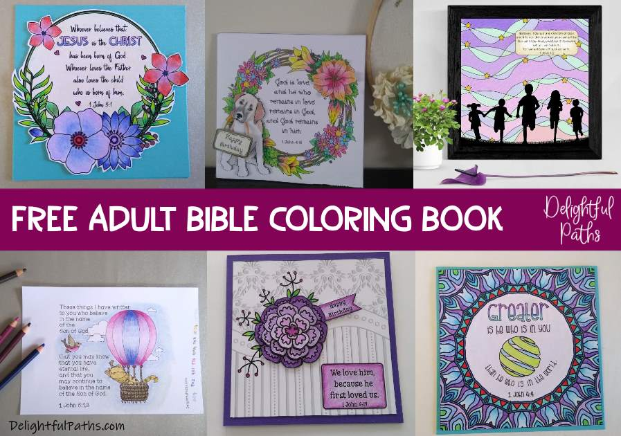 Free Bible Coloring Book For Adults (1 John) - Delightful Paths