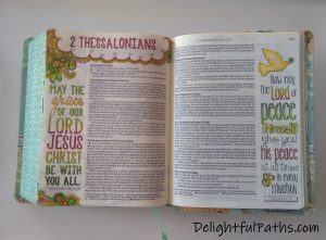 NLT inspire journaling Bible colored pages2 DelightfulPaths