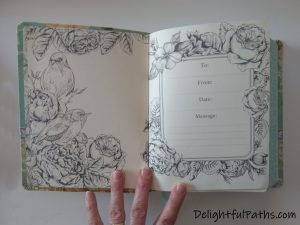 NLT inspire journaling Bible dedication page DelightfulPaths