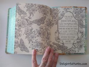 NLT inspire journaling Bible endpages DelightfulPaths