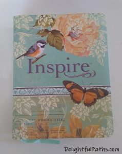 NLT inspire journaling Bible front cover DelightfulPaths