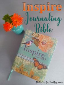 NLT inspire journaling Bible review DelightfulPaths #adultcoloring #biblejournaling