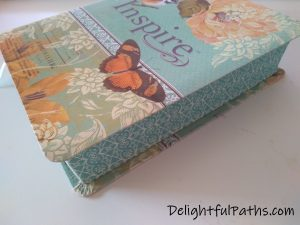NLT inspire journaling Bible sides of pages DelightfulPaths