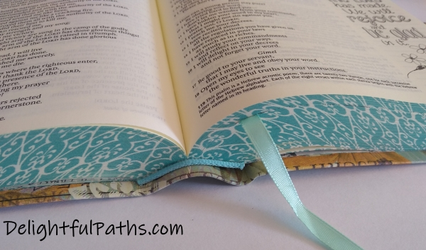 NLT inspire journaling Bible smyth-sewn binding DelightfulPaths