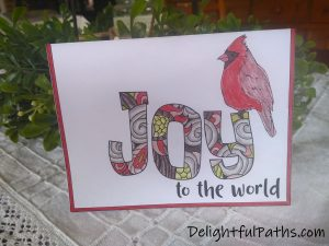 The Color Catalog finished Joy christmas card DelightfulPaths