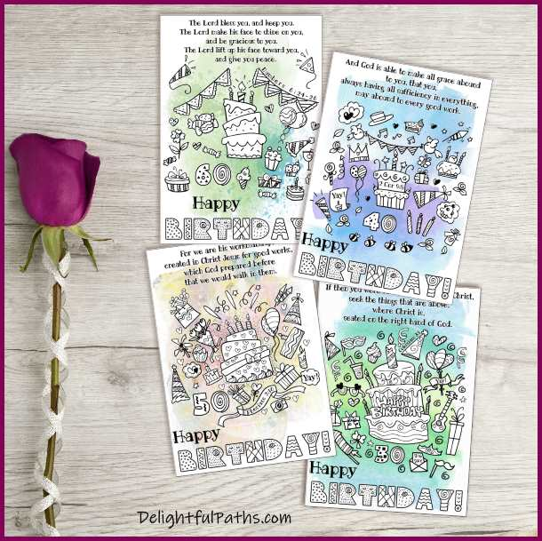 printable milestone birthday cards DelightfulPaths