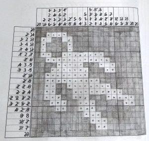 astronaut nonogram puzzle DelightfulPaths