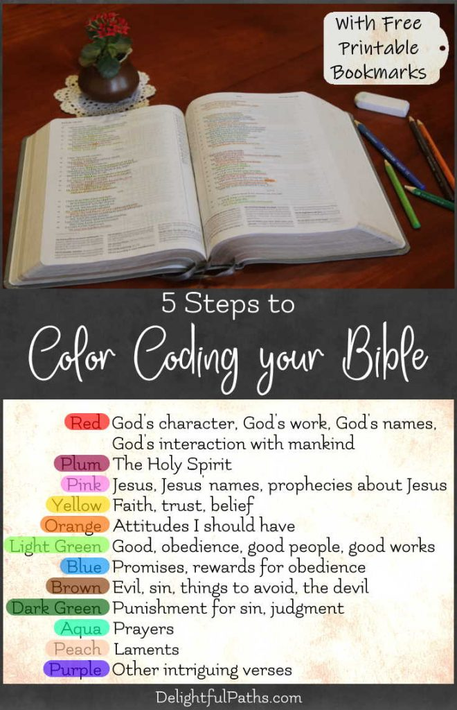 5 steps to color coding your Bible
